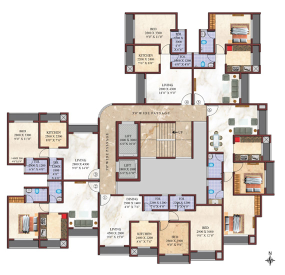 mittal elevation naigaon layout plan mittal elevation naigaon wing a